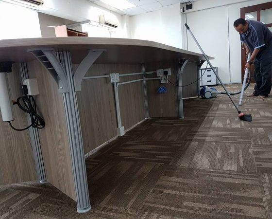 Wiring, Carpet and Meeting Table Installation – 4