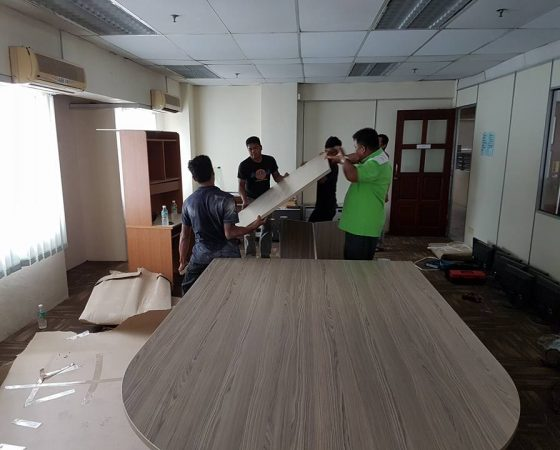 Wiring, Carpet and Meeting Table Installation – 3