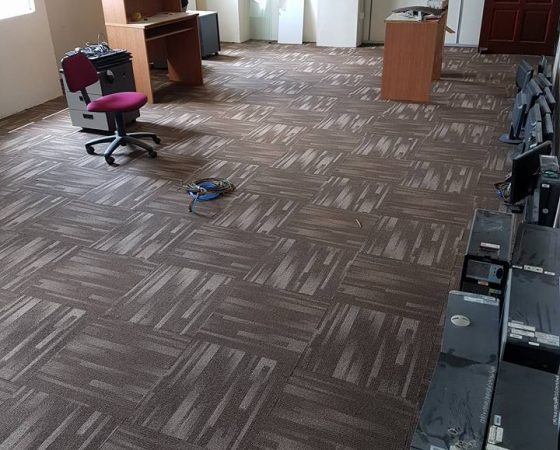 Wiring, Carpet and Meeting Table Installation – 2