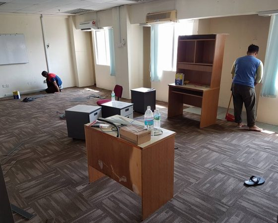 Wiring, Carpet and Meeting Table Installation – 1