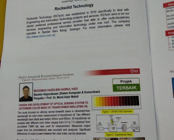 Majlis Kecemerlangan Graduan Fakulti Kejuruteraan Sesi 2018/2019 di Universiti Putra Malaysia.